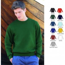 Fruit Of The Loom Set In Sleeve Sweatshirt